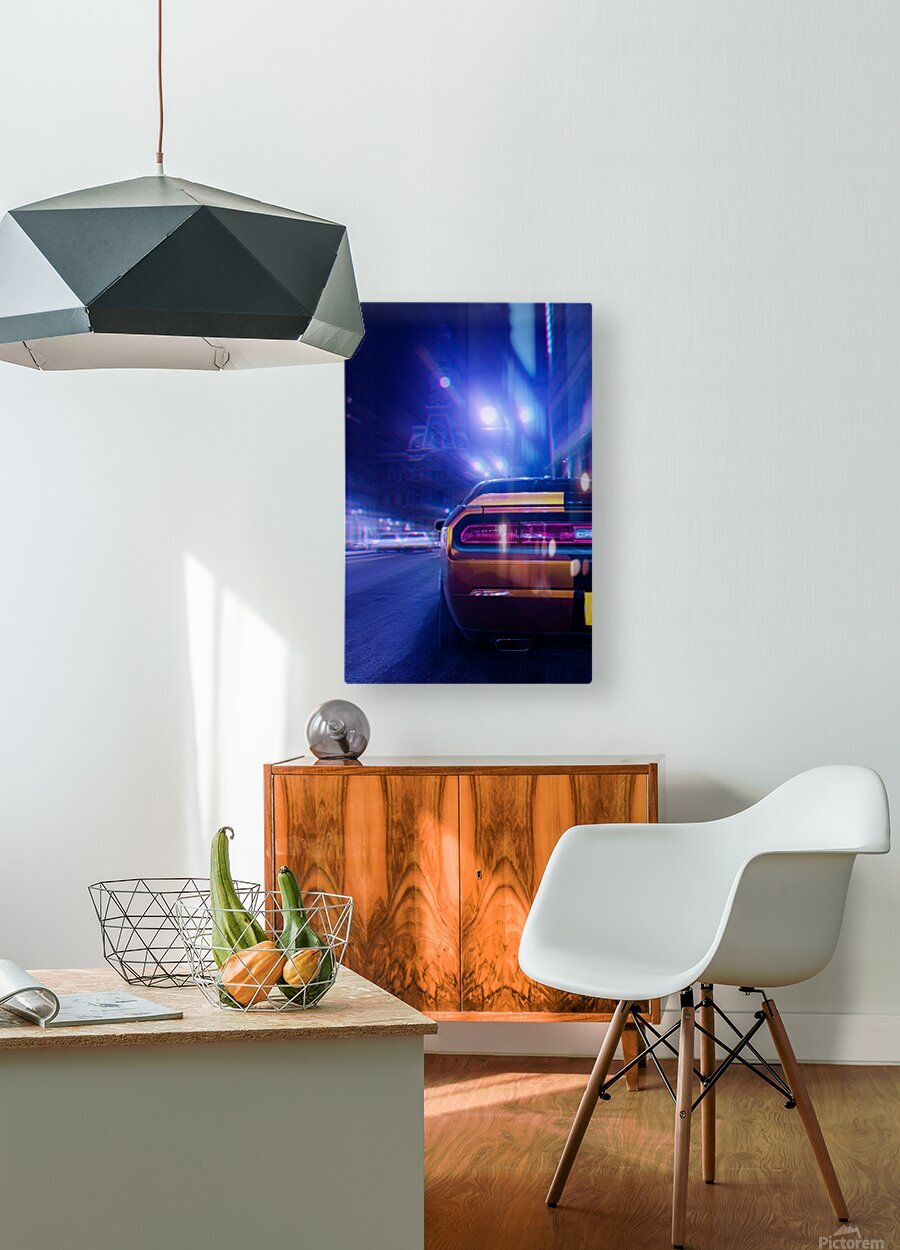 The Driver  HD Metal print with Floating Frame on Back
