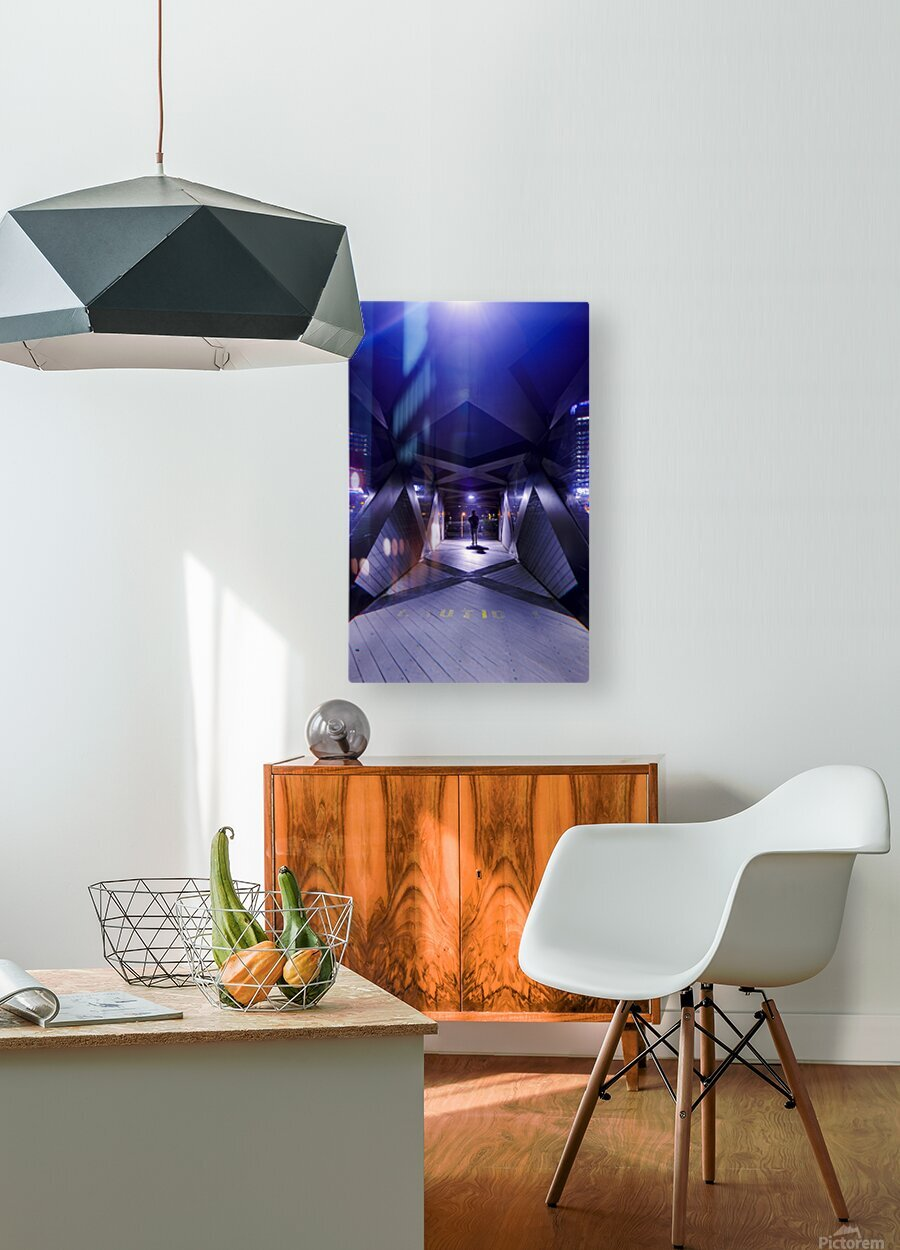 Xcalibr8  HD Metal print with Floating Frame on Back