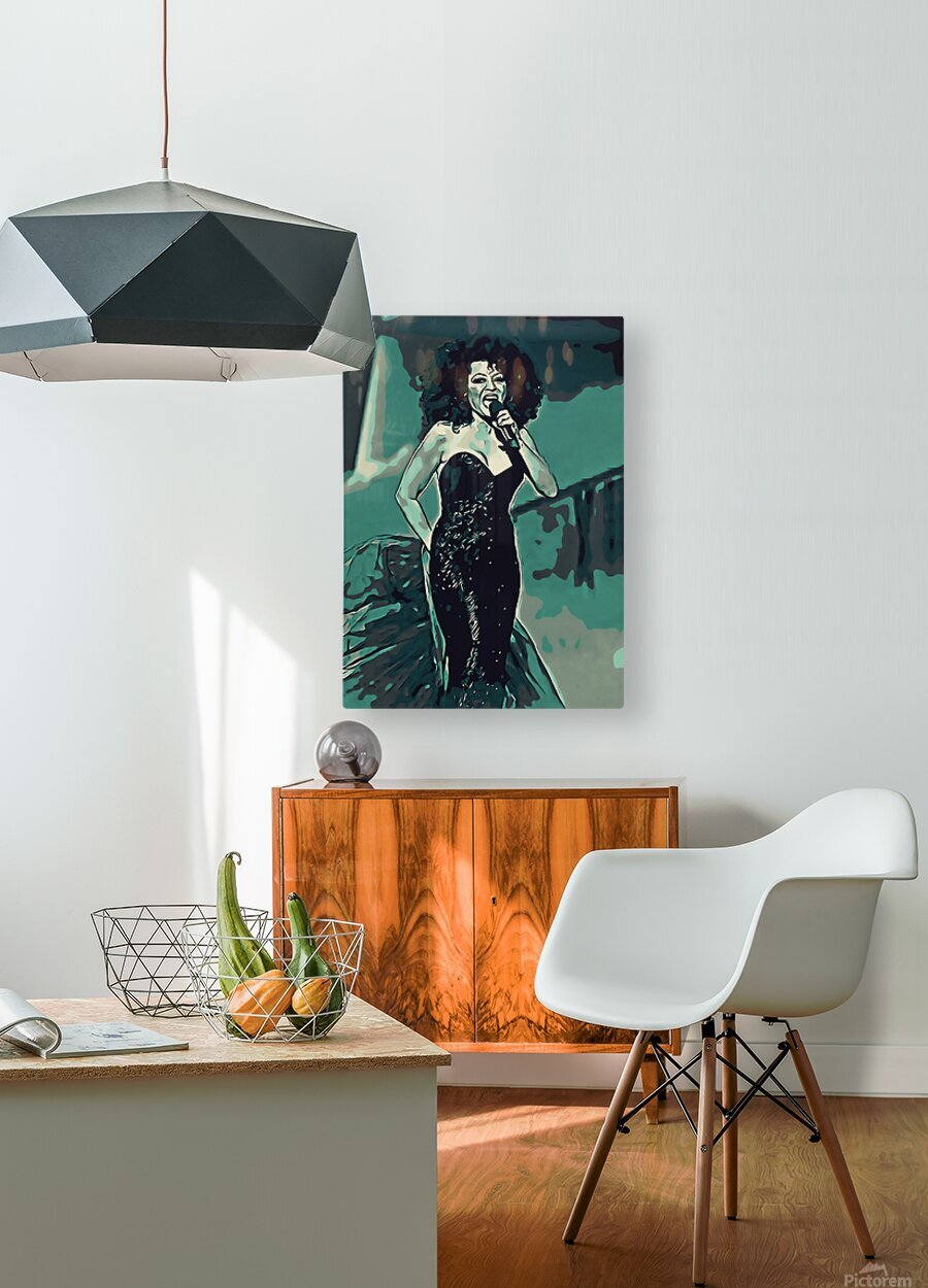 Diana_Ross_05  HD Metal print with Floating Frame on Back