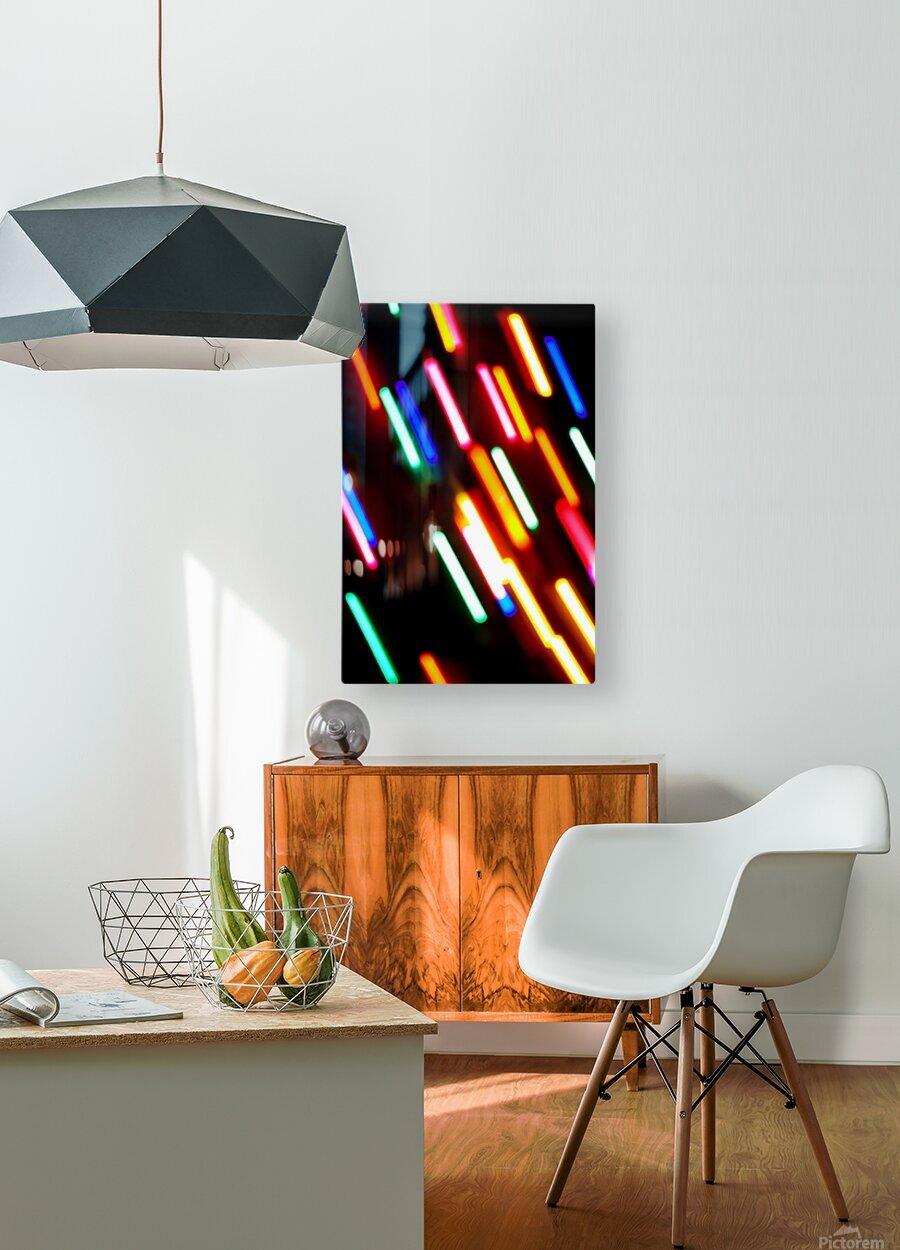 RAINBOW RAIN  HD Metal print with Floating Frame on Back