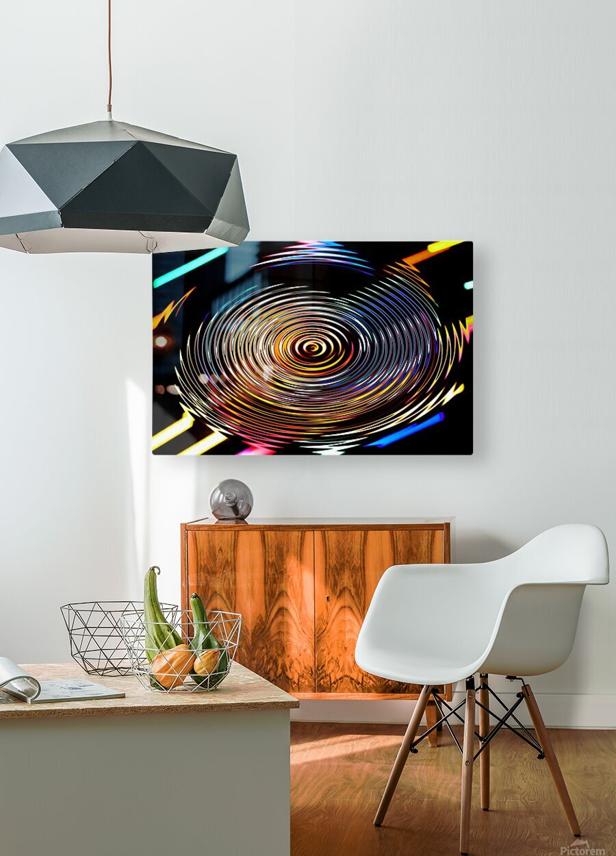 LUMI CIRCLE 001  HD Metal print with Floating Frame on Back