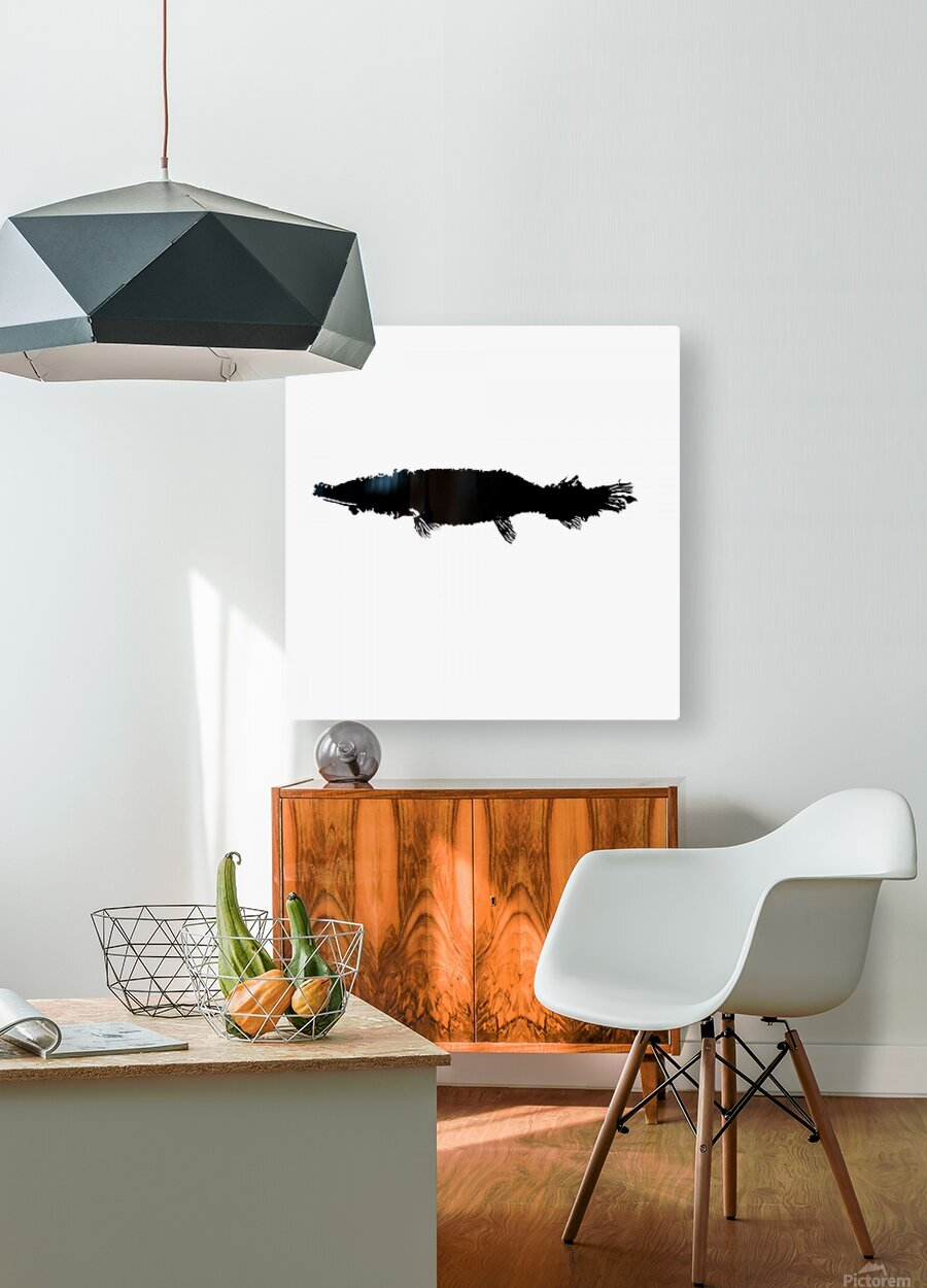 Fossil gar  HD Metal print with Floating Frame on Back