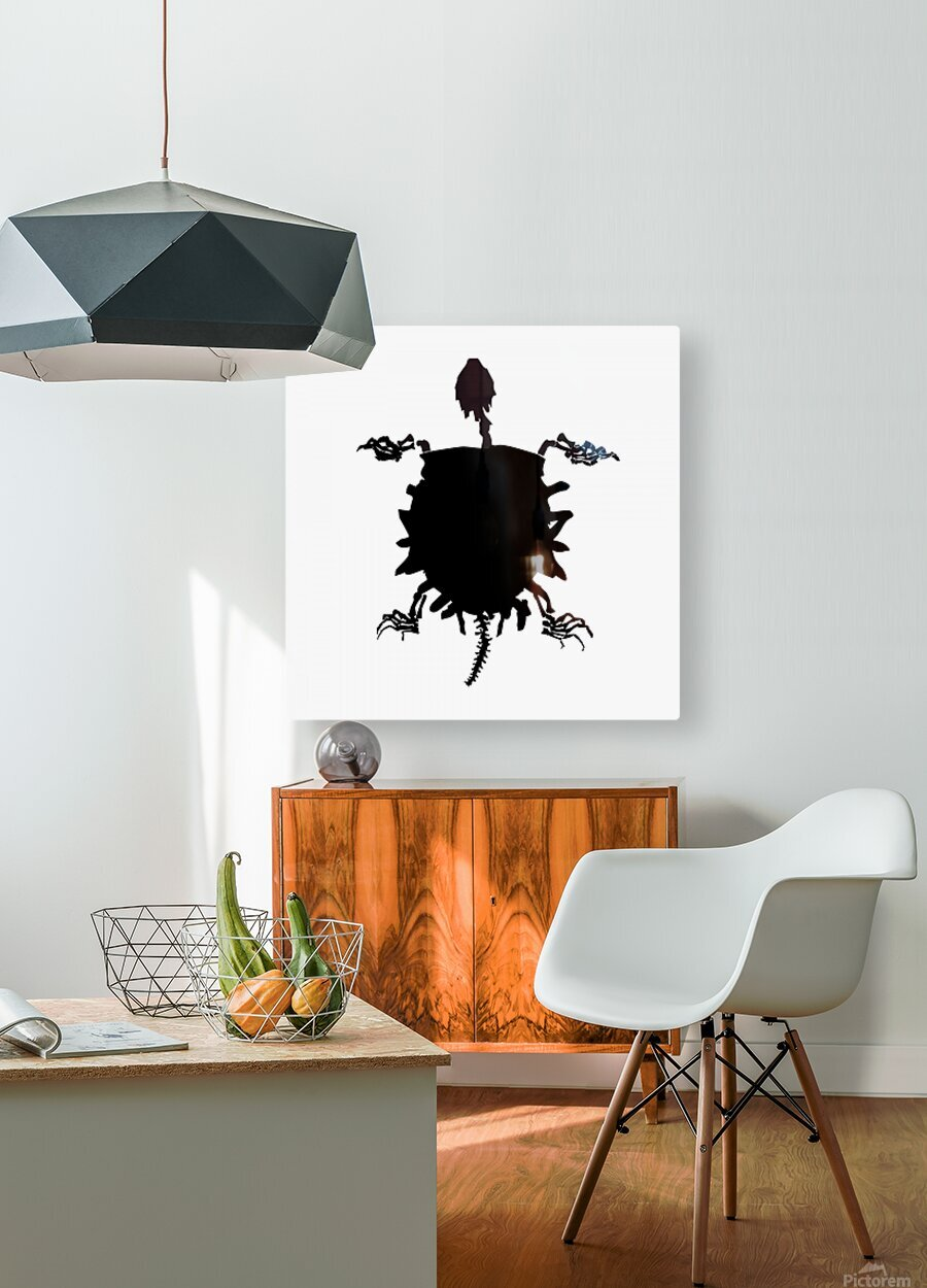 Fossil Turtle  HD Metal print with Floating Frame on Back