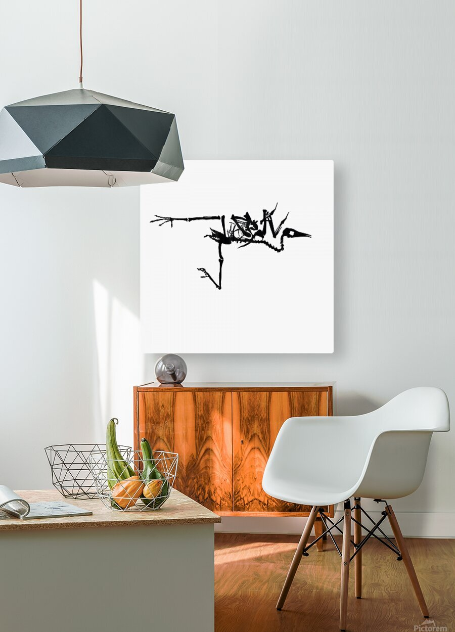 Fossil Bird  HD Metal print with Floating Frame on Back