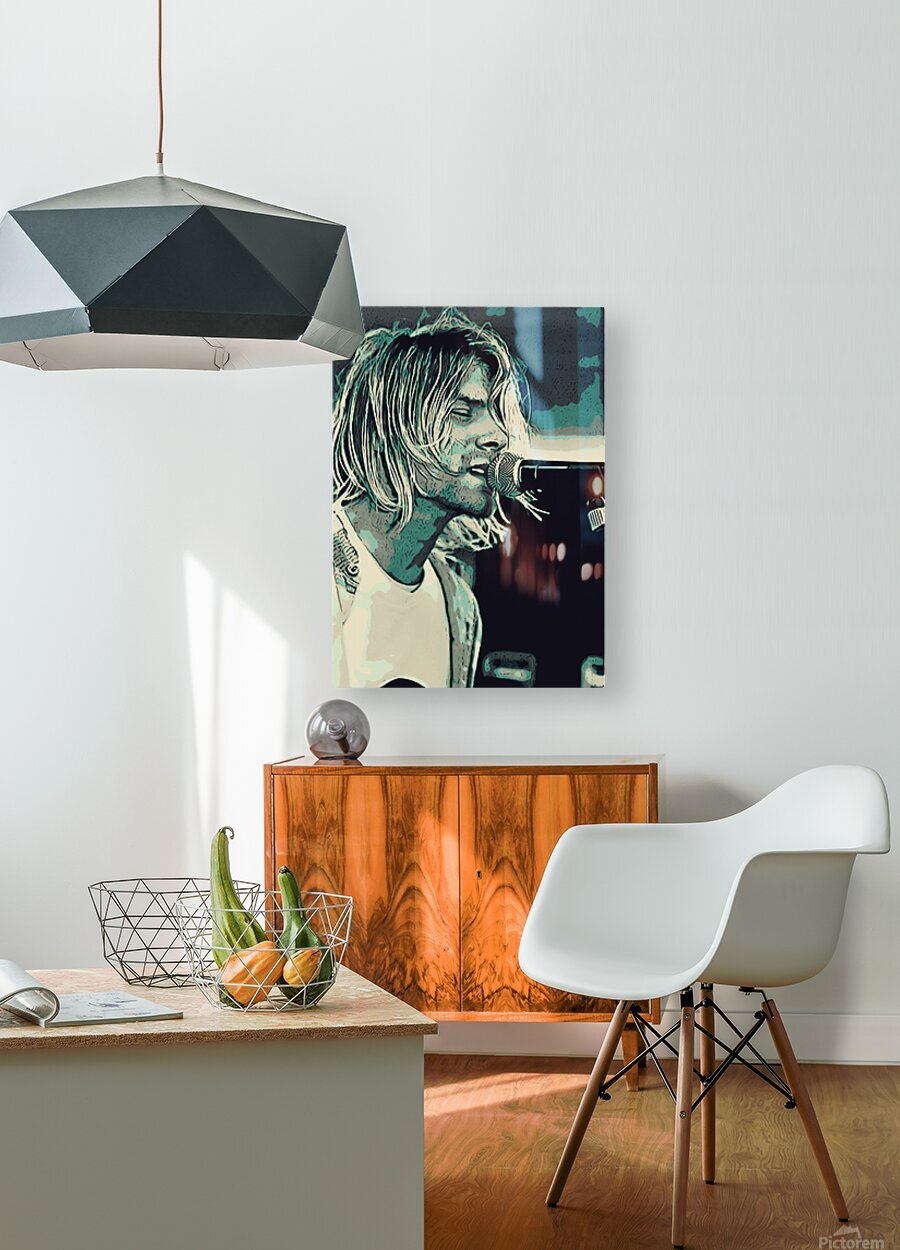 Kurt_Cobain_31  HD Metal print with Floating Frame on Back