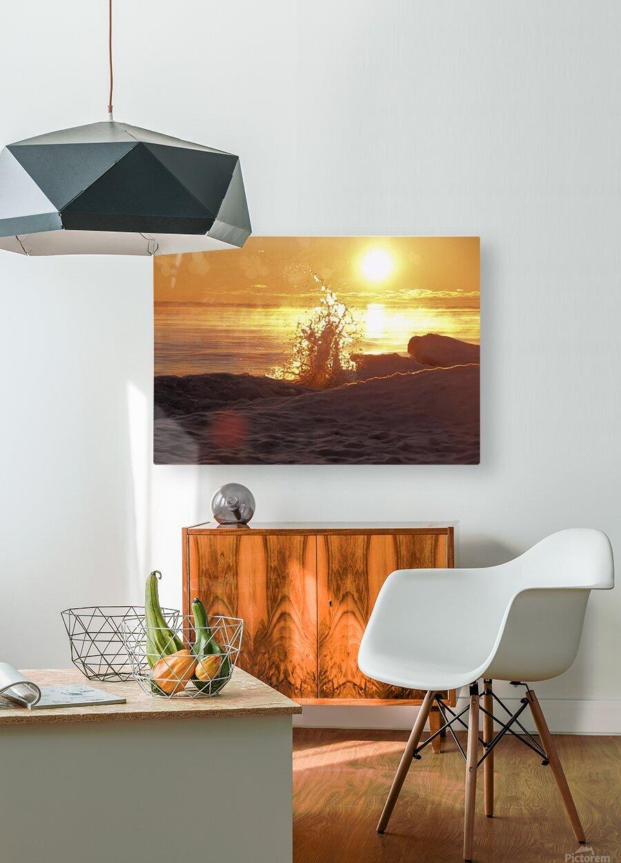 A Splash of Sunrise  HD Metal print with Floating Frame on Back
