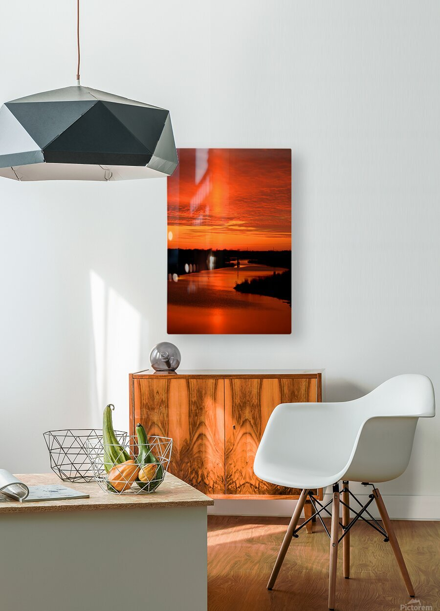 Big Ditch Sunset  HD Metal print with Floating Frame on Back