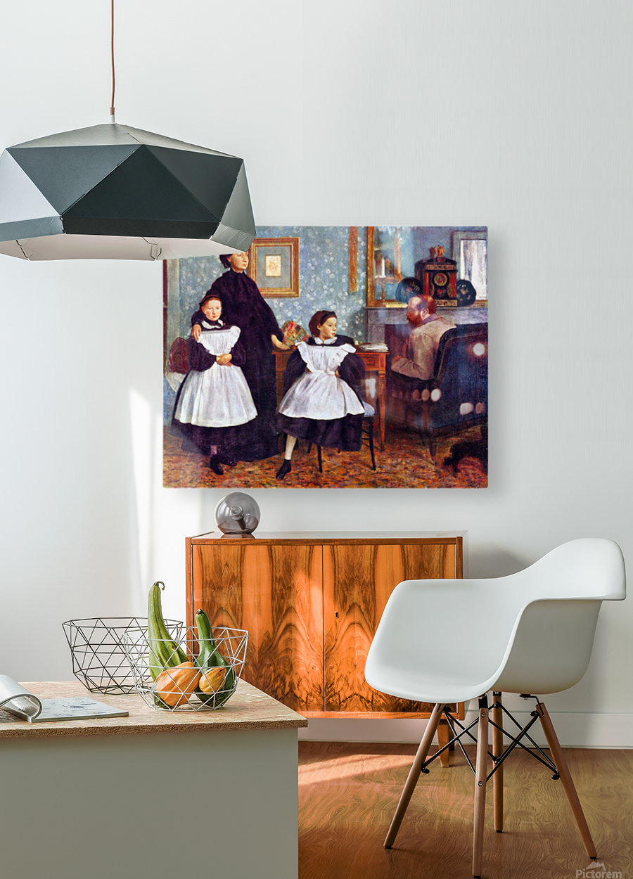 Portait of the Bellelli family by Degas  HD Metal print with Floating Frame on Back