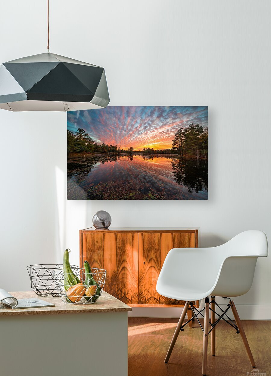 Mountain Rd Pond  HD Metal print with Floating Frame on Back