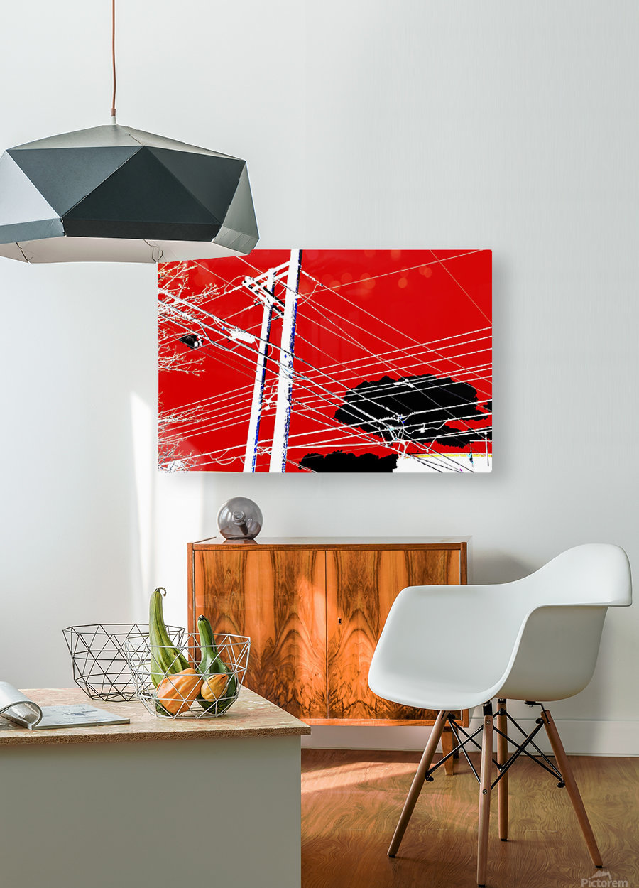 COTE SAINT LUC RED  HD Metal print with Floating Frame on Back