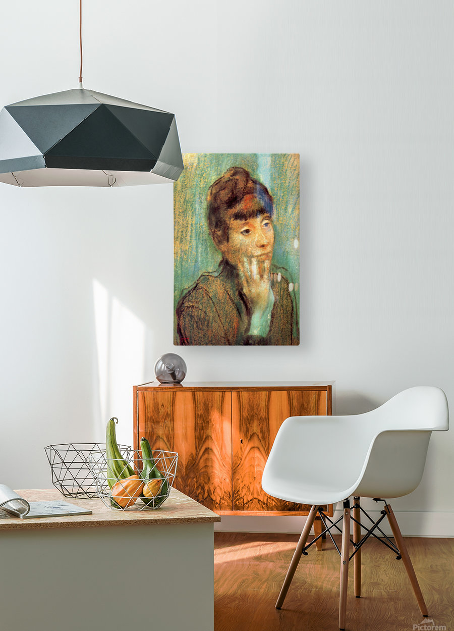 Portrait of a Lady by Degas  HD Metal print with Floating Frame on Back