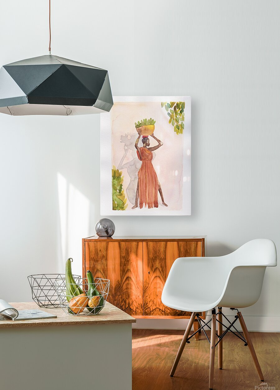 Vogue  HD Metal print with Floating Frame on Back
