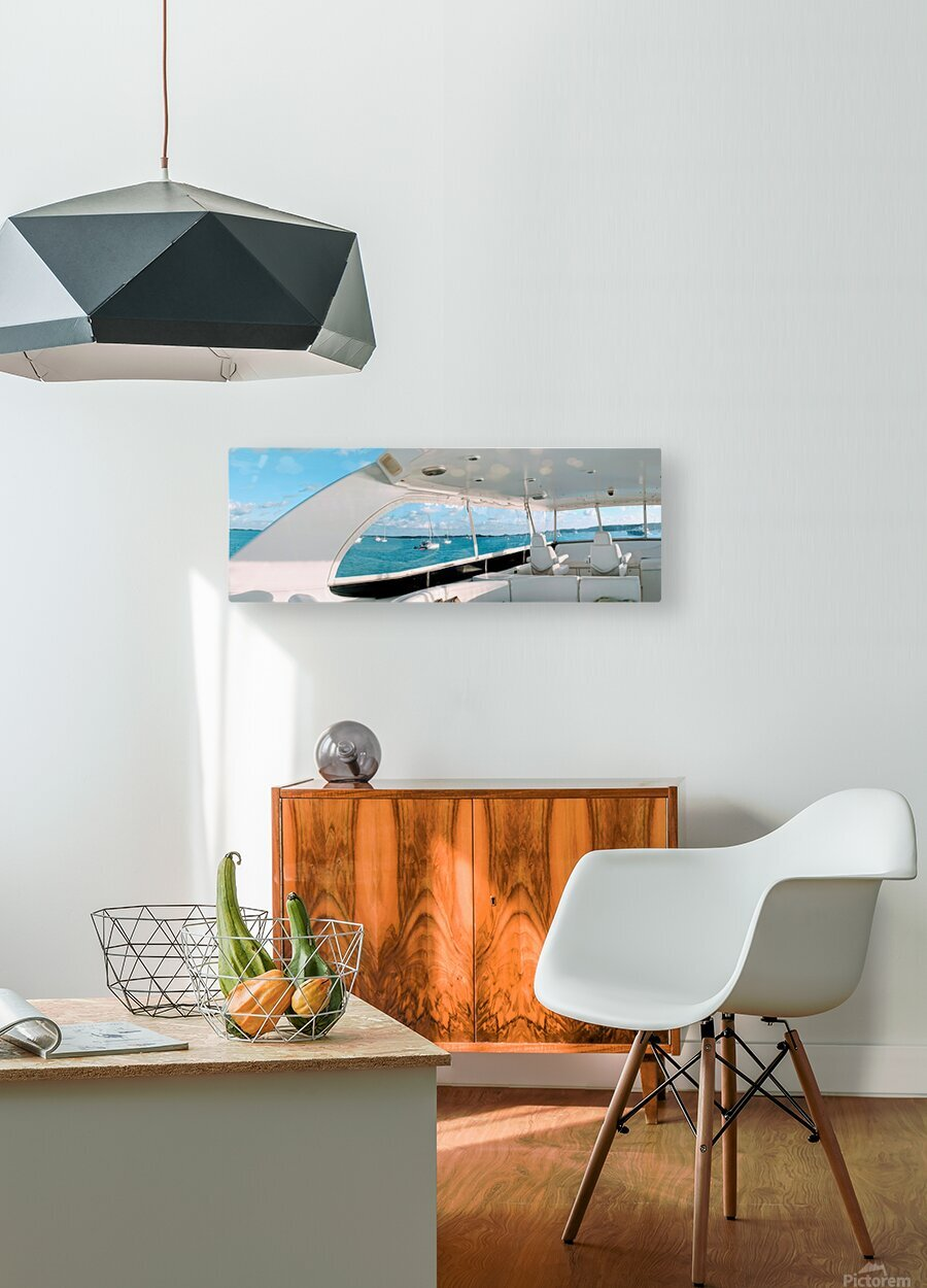 Bobbing in the Bahamas  HD Metal print with Floating Frame on Back