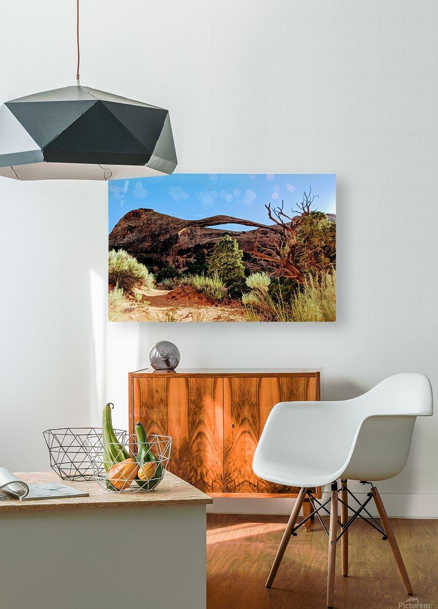 Landscape Arch I  HD Metal print with Floating Frame on Back