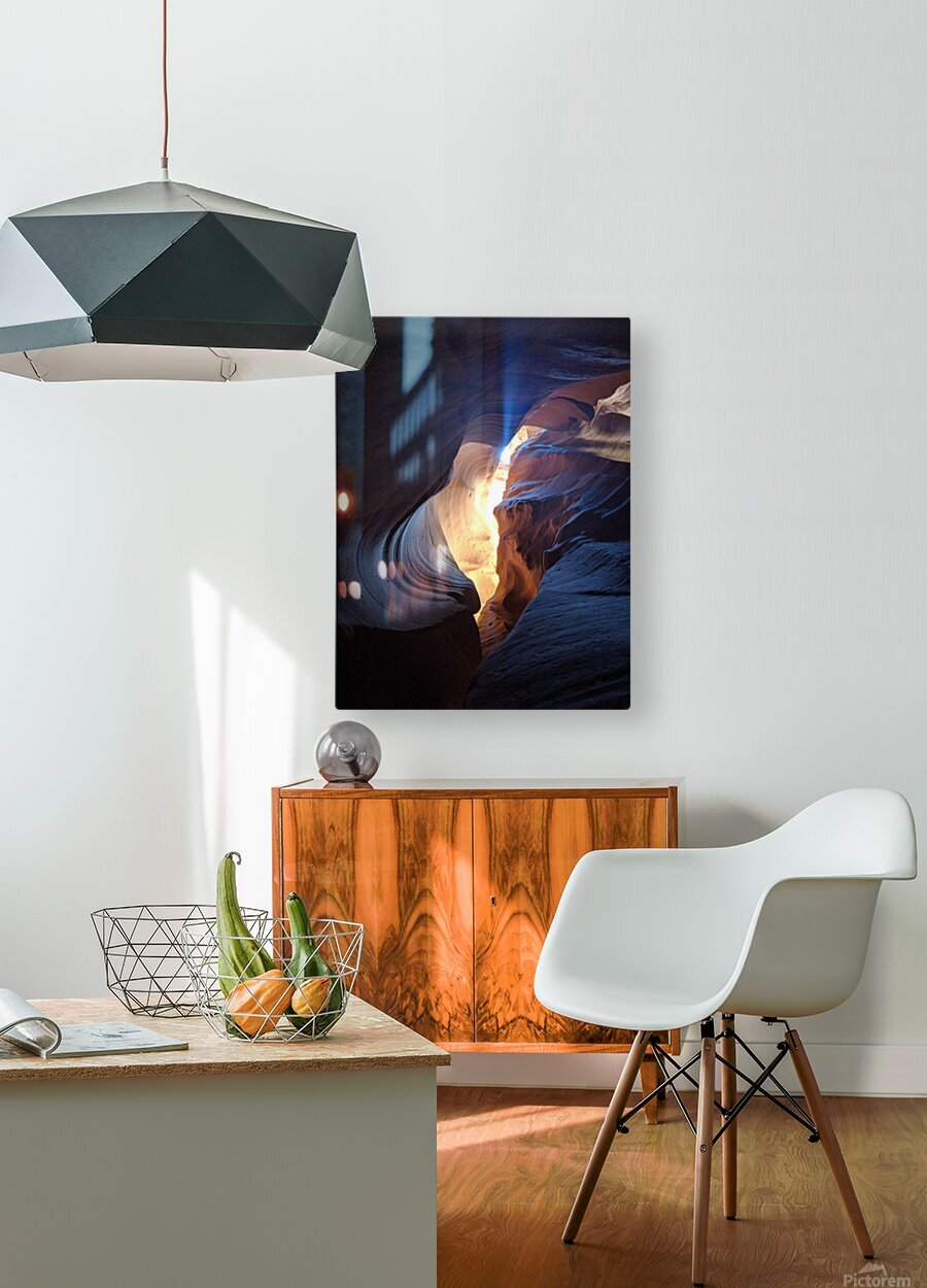 A Light in the Dark  HD Metal print with Floating Frame on Back