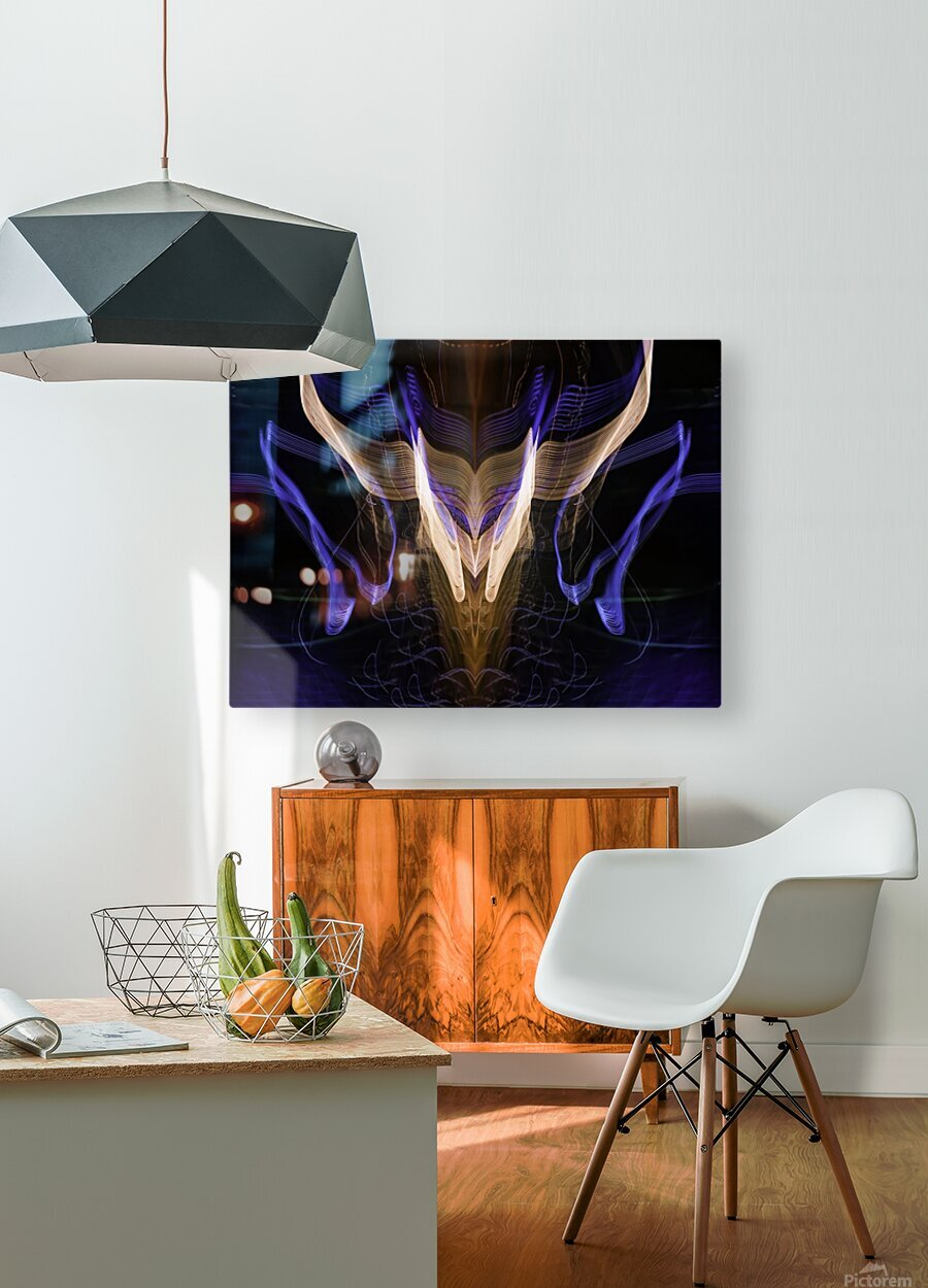 BULL FLUX  HD Metal print with Floating Frame on Back