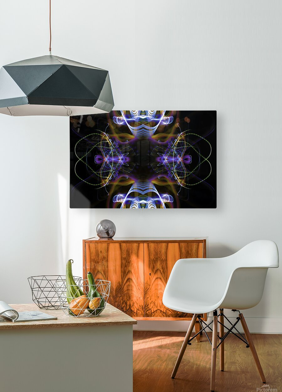 MOVING WINDOW  HD Metal print with Floating Frame on Back