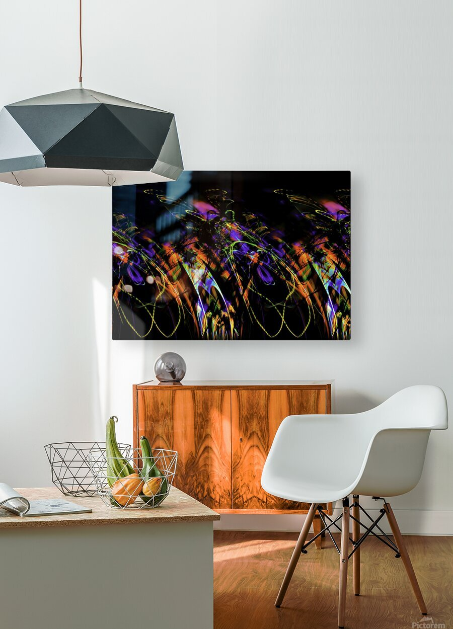 FLY FLUX  HD Metal print with Floating Frame on Back