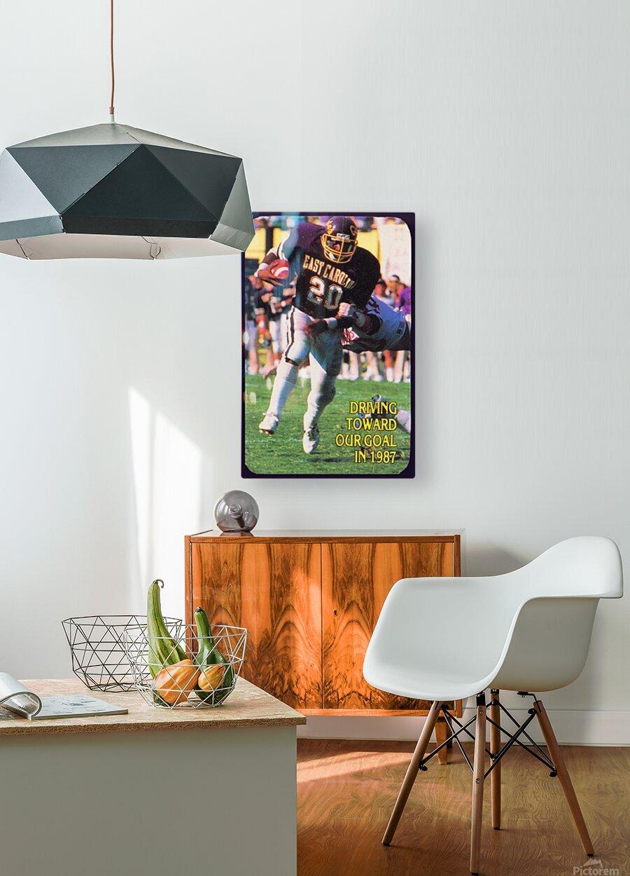 1987 East Carolina Football  HD Metal print with Floating Frame on Back