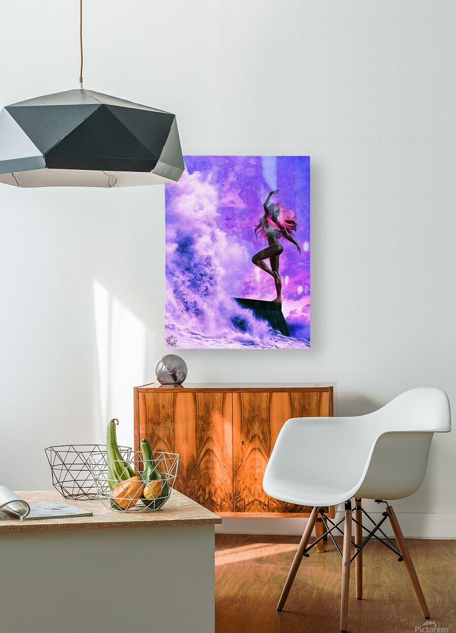 TheDancers 1.1 Female  HD Metal print with Floating Frame on Back