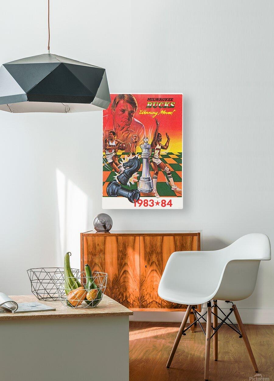 1983 Milwaukee Bucks   HD Metal print with Floating Frame on Back