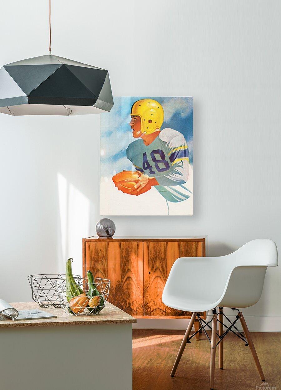 1948 Lon Keller Football Art  HD Metal print with Floating Frame on Back