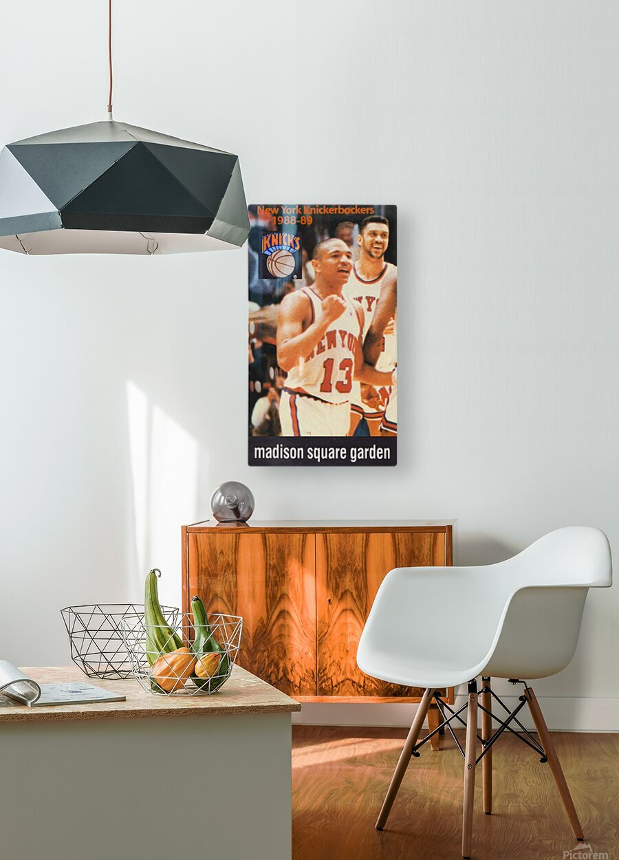 1988 New York Knicks Mark Jackson  HD Metal print with Floating Frame on Back