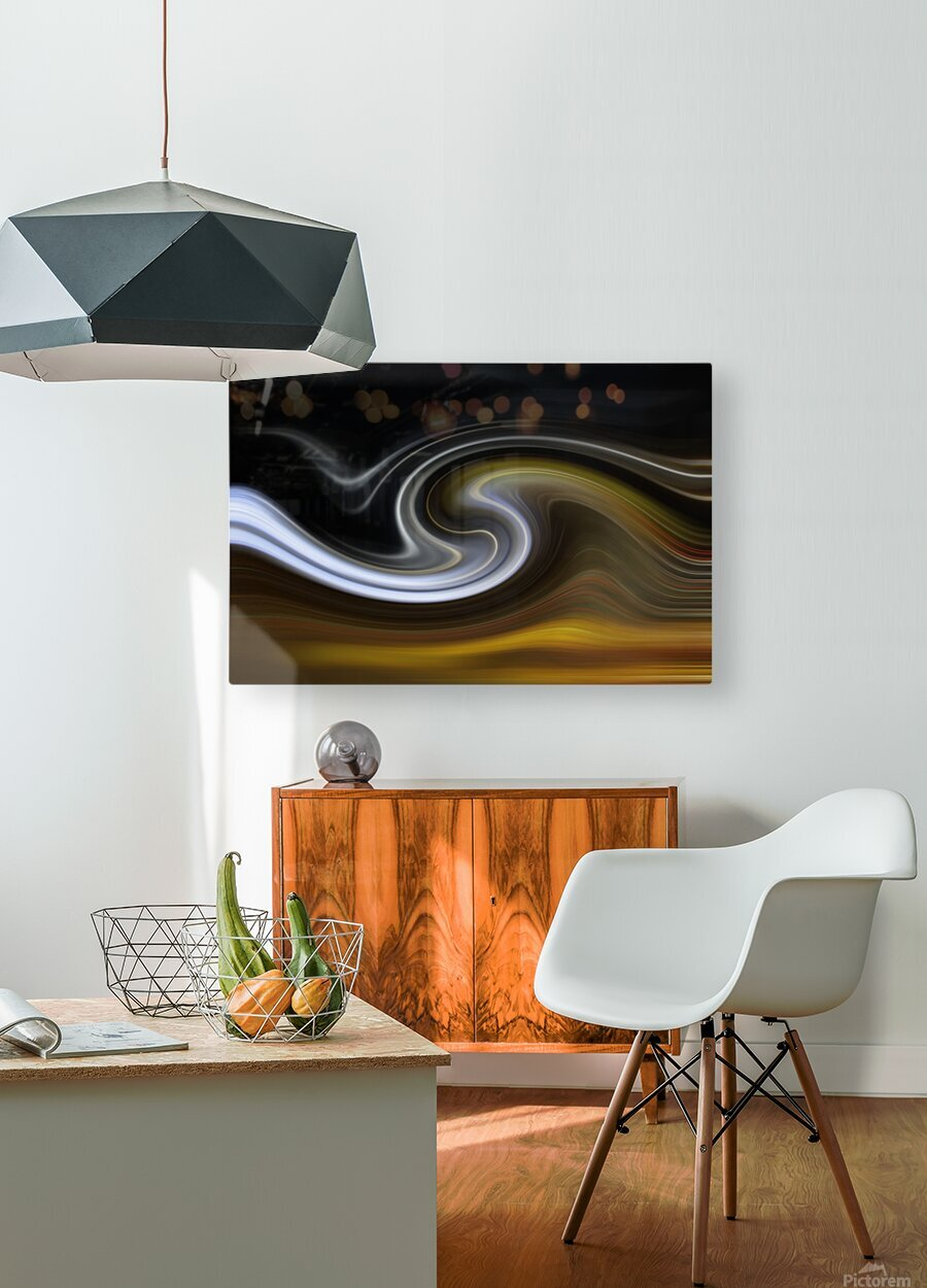 LAVAWAVE  HD Metal print with Floating Frame on Back