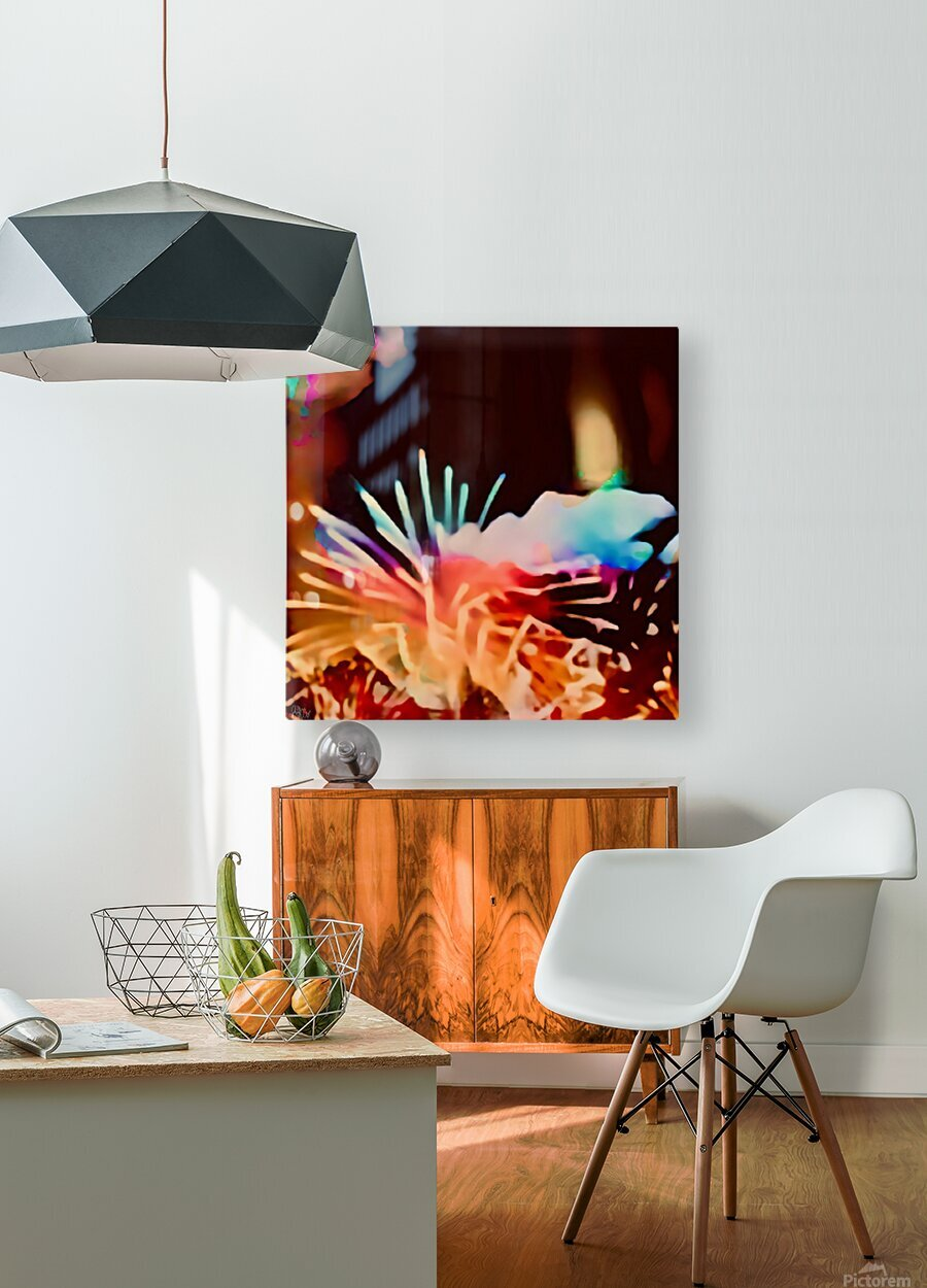 Anemone in the Luminescence Seas of My Soul  HD Metal print with Floating Frame on Back