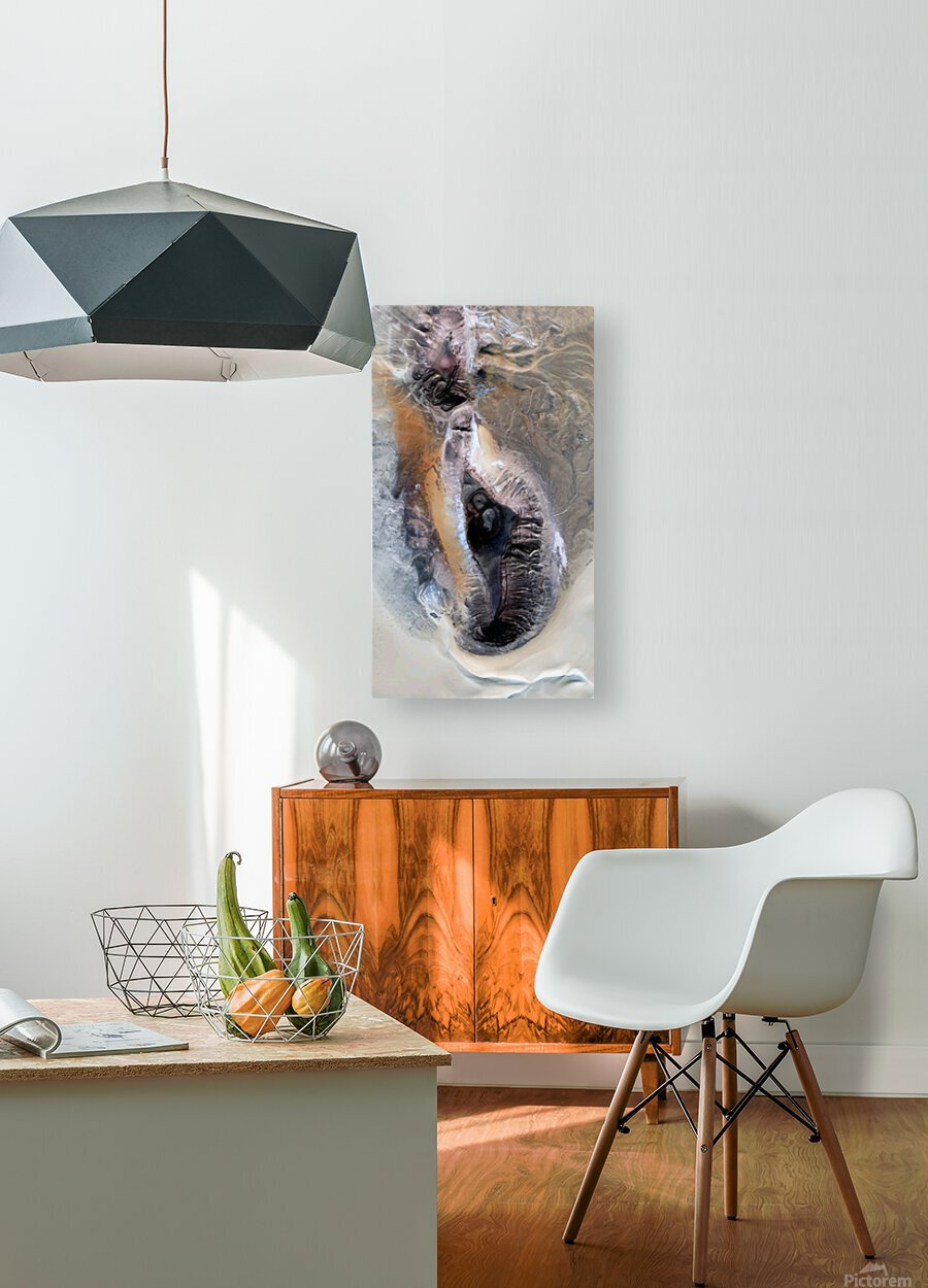 touch  HD Metal print with Floating Frame on Back