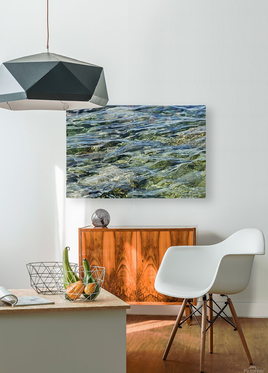 Close up of water on shore of slovenian resort town Piran Slovenia  HD Metal print with Floating Frame on Back