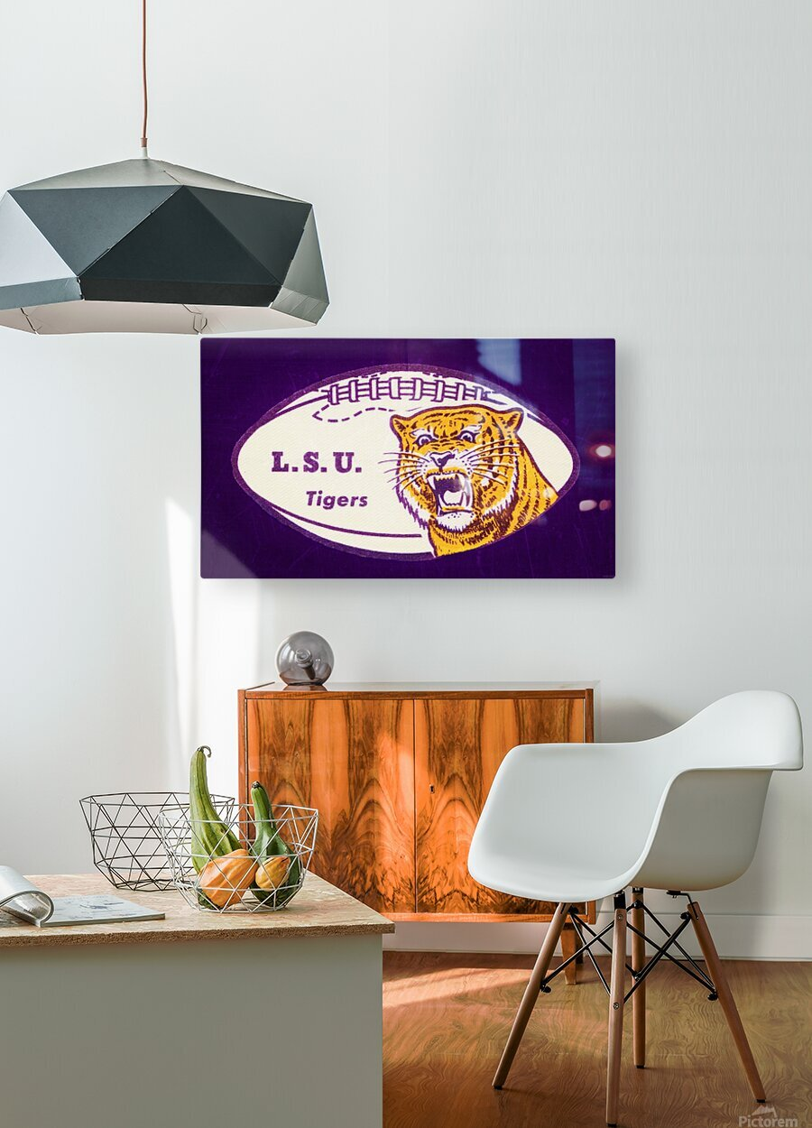 1960s LSU Tigers Football  HD Metal print with Floating Frame on Back