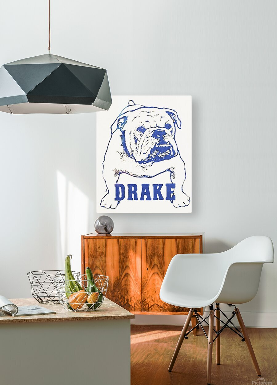 1950s Drake Bulldog Art  HD Metal print with Floating Frame on Back