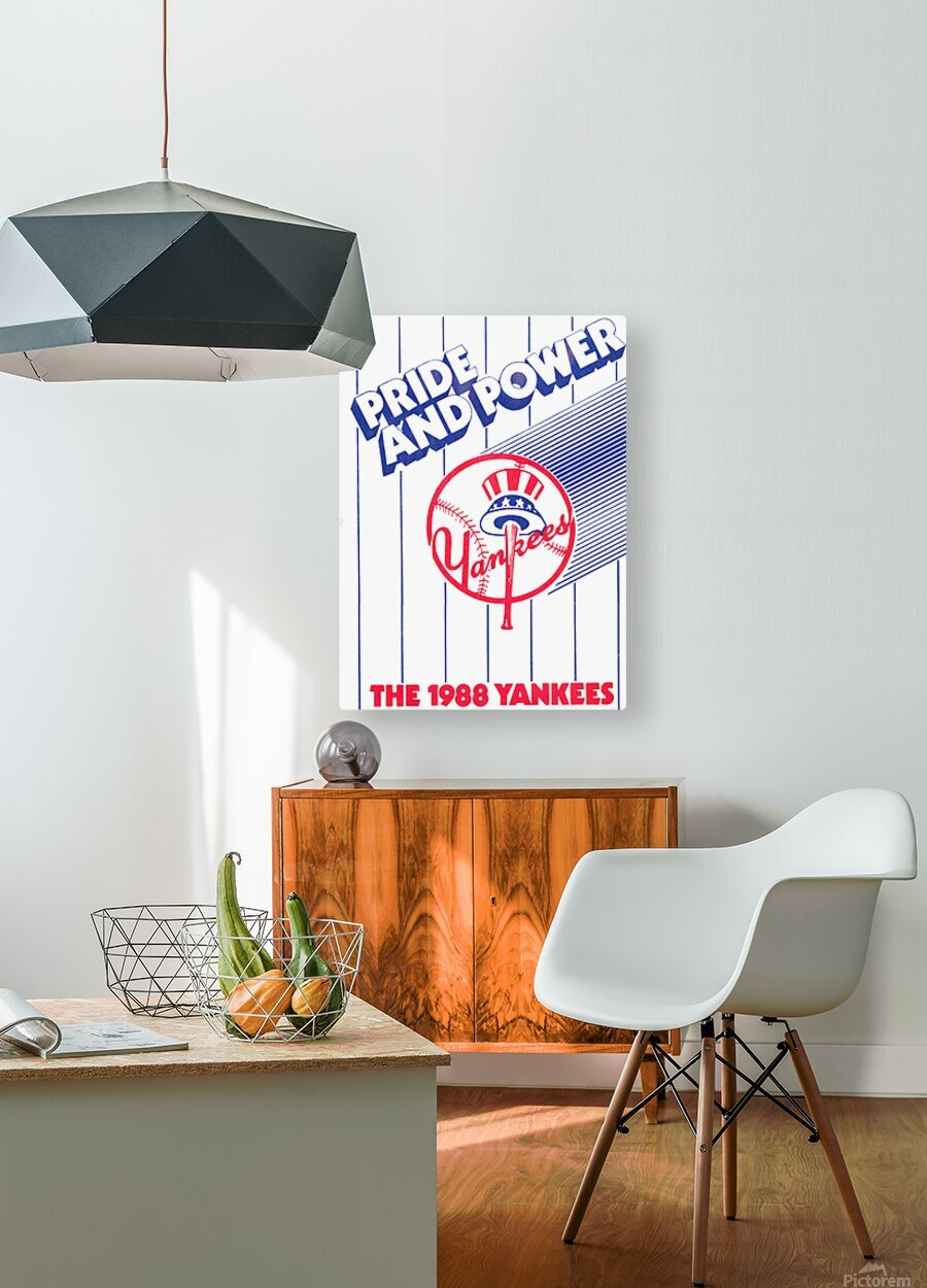 1988 New York Yankees Art  HD Metal print with Floating Frame on Back