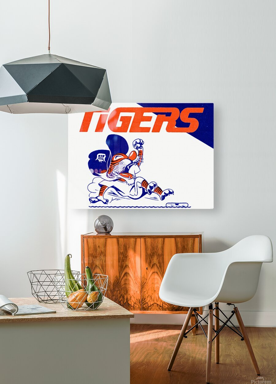 Tigers Cartoon  HD Metal print with Floating Frame on Back