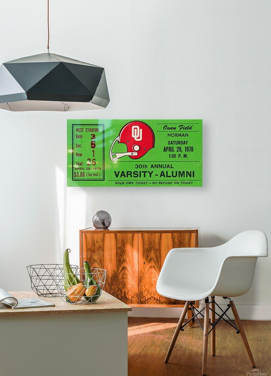 1978 Oklahoma Sooners Varsity Alumni Game  HD Metal print with Floating Frame on Back
