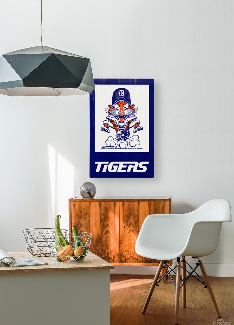 1972 Detroit Tigers Art  HD Metal print with Floating Frame on Back