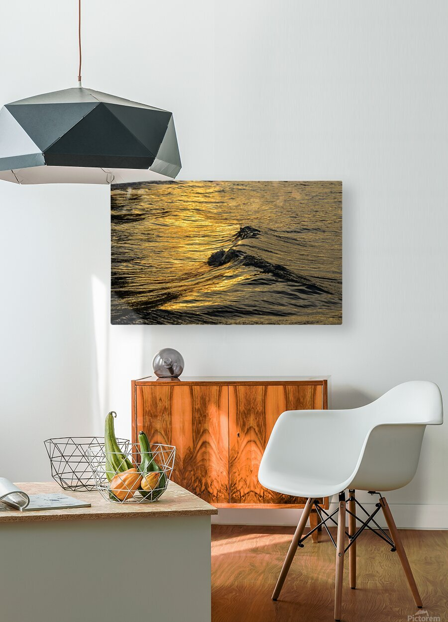 Lake Erie waves 9  HD Metal print with Floating Frame on Back