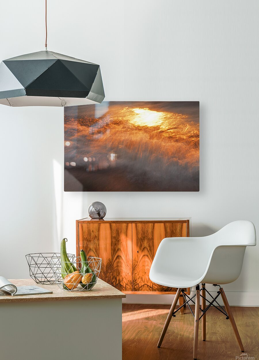 Lake Erie waves 8  HD Metal print with Floating Frame on Back