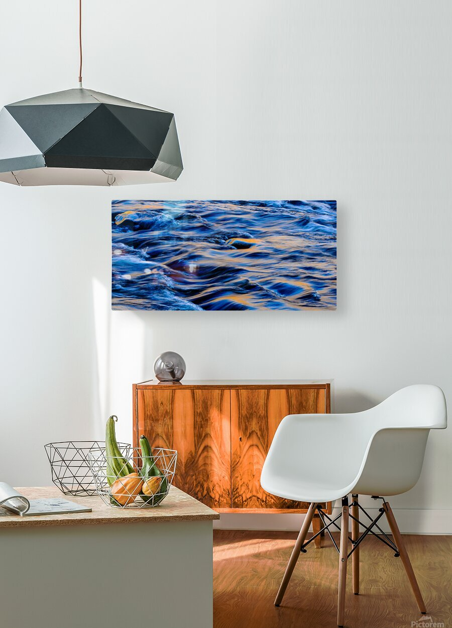 Flowing reflections 5  HD Metal print with Floating Frame on Back