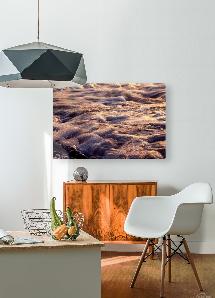 Lake Erie waves 6  HD Metal print with Floating Frame on Back