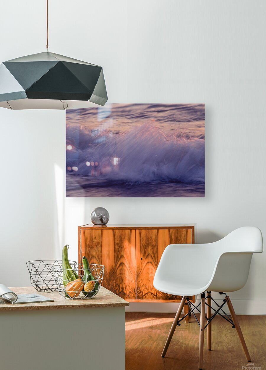 Lake Erie waves 4  HD Metal print with Floating Frame on Back