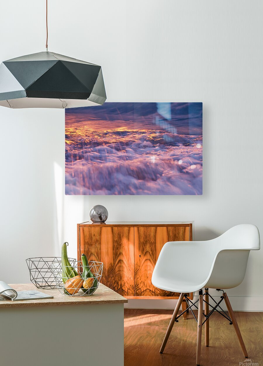 Lake Erie waves 3  HD Metal print with Floating Frame on Back