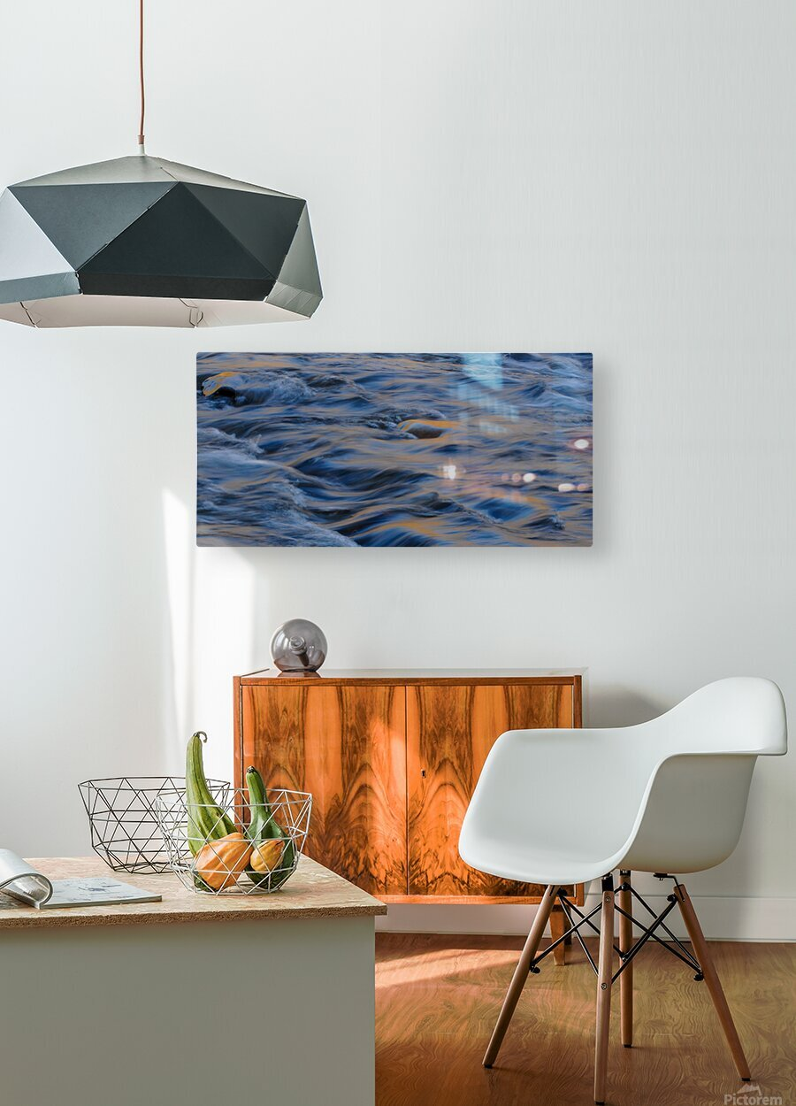 Flowing reflections 3  HD Metal print with Floating Frame on Back