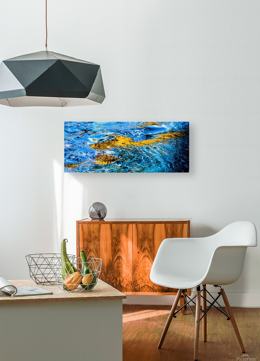 Flowing reflections 1  HD Metal print with Floating Frame on Back