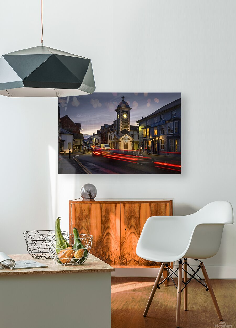 Rhayader town clock tower  HD Metal print with Floating Frame on Back