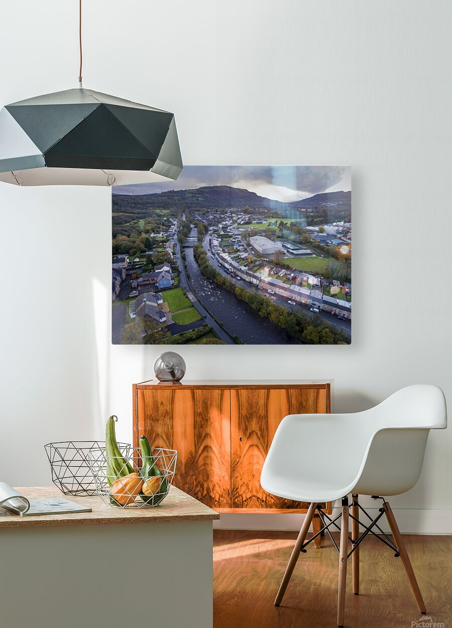 The river Tawe in Ystradgynlais  HD Metal print with Floating Frame on Back