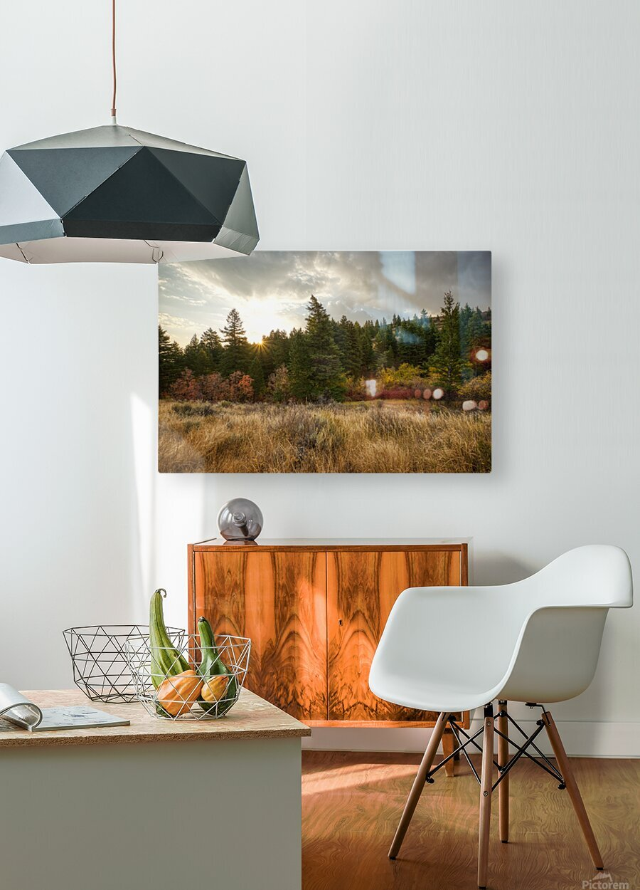 Gibson Jack Autumn Sunrise  HD Metal print with Floating Frame on Back