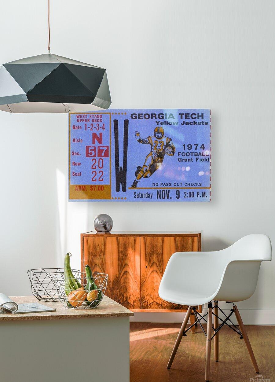1974 georgia tech remix  HD Metal print with Floating Frame on Back