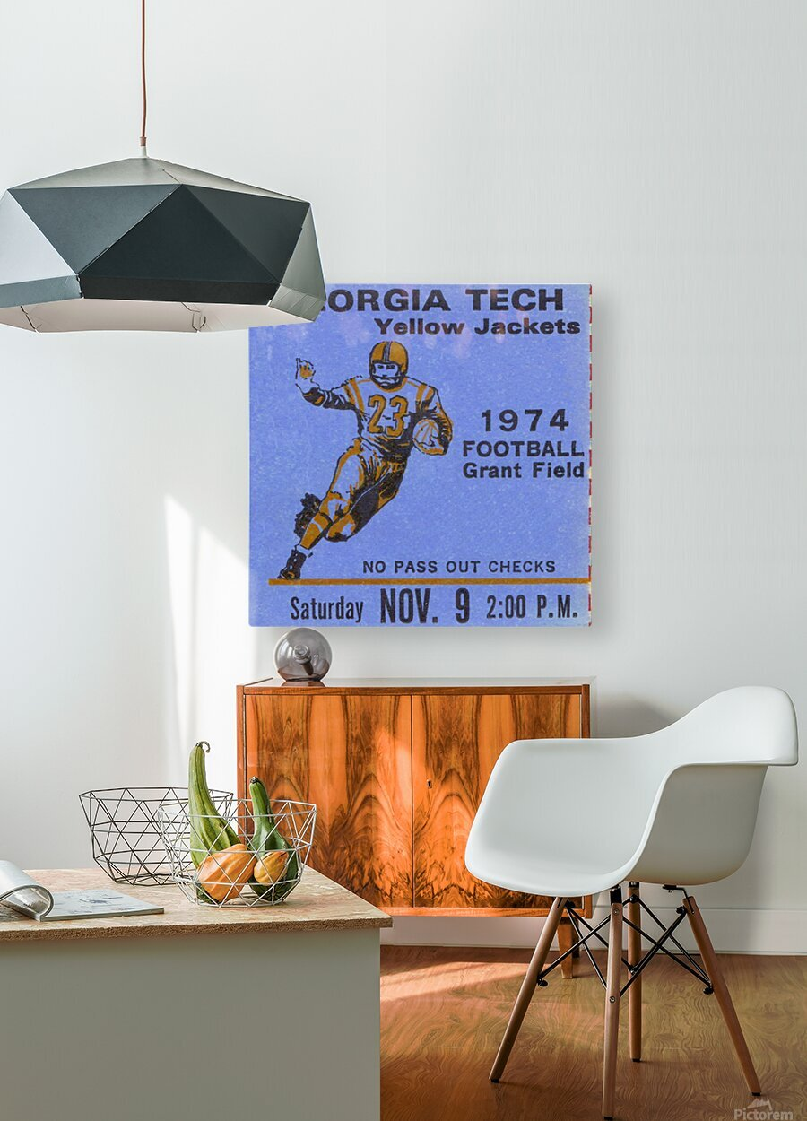 1974 georgia tech crop remix  HD Metal print with Floating Frame on Back